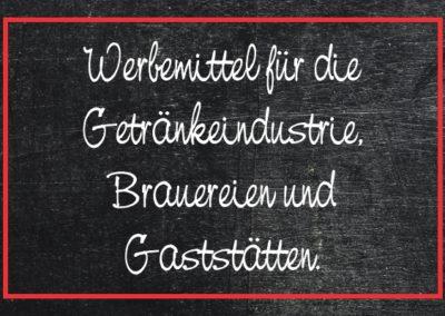 Werbemittel für Brauerei, Getränkeindustrie und Gastronomie