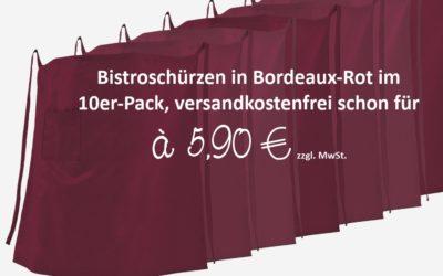 """Bistro Schürze """"Klassik"""" in Bordeaux-Rot zum Sonderpreis"""